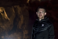 AlanJames Burns at Aillwee Caves, Clare, Ireland, 2017. Photo by Trevor Whelan